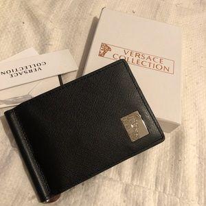 Versace black wallet